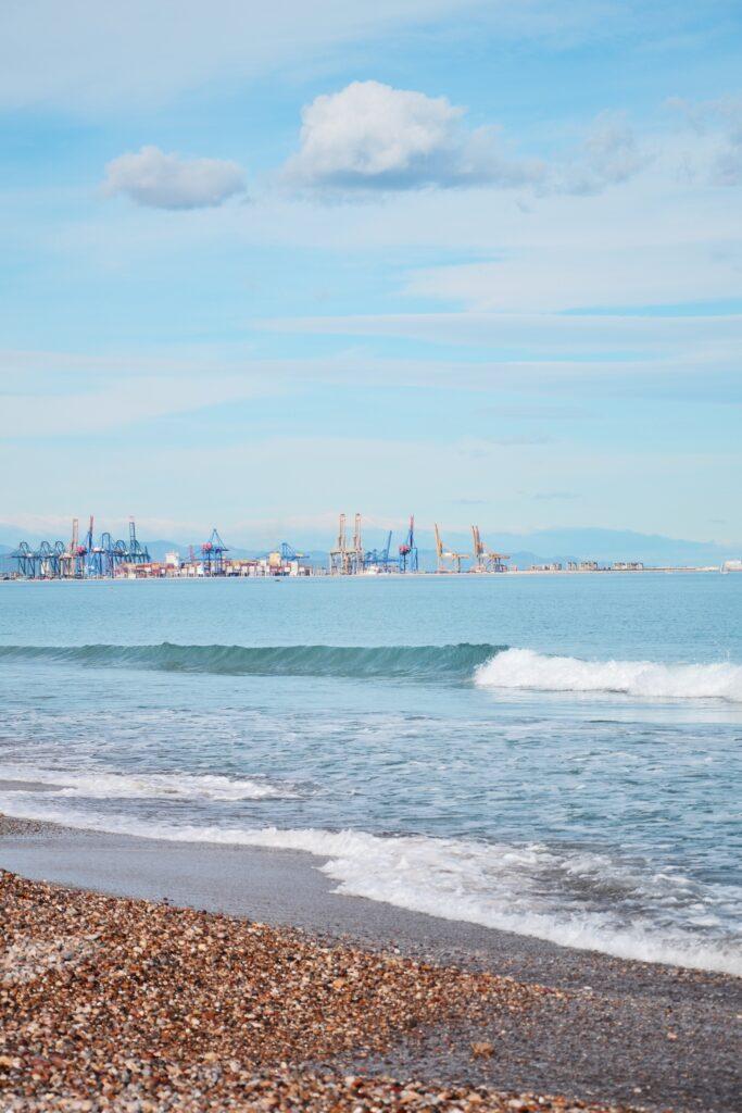 Widok na port El Saler