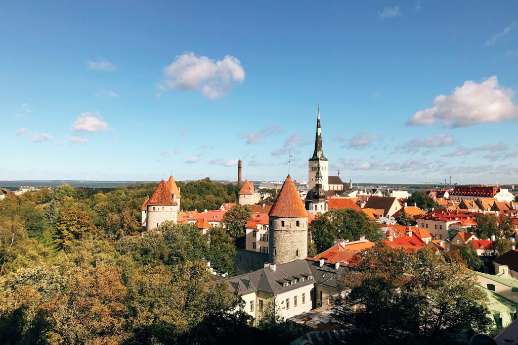 Tallin widok z góry