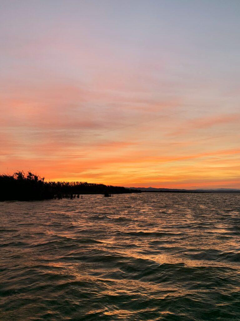 Zachód słońca Albufera