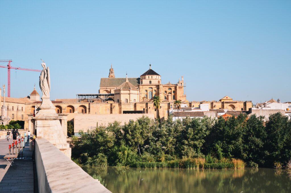 Widok na meczet z mostu